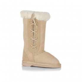Childrens Long Side Lace UGG Boots - L (approx. age 4-6yrs)