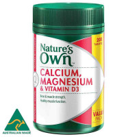 Nature's Own Calcium and Magnesium with Vitamin D3 200 Tablets Exclusive Size