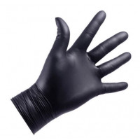 NITRYLEX Nitrile NITRYLEX Gloves, 100pcs (50 pairs), black, powder-free