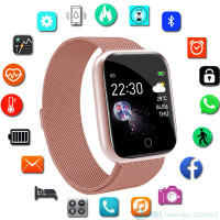 Stainless Steel Smart Watch Women Men Android IOS Fitness Tracker