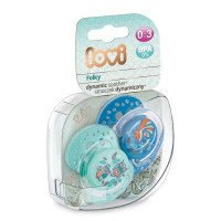 LOVI Dynamic sedative Soother Lovi 0-3 M-Cy (2pcs) FOLKY