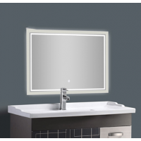 Large frameless decorative led mirror light bathroom mirror