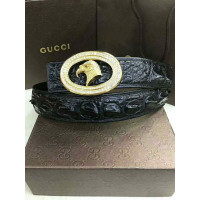 Ladies crocodile leather belt