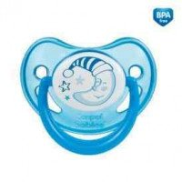 CANPOL BABIES pacifier for Uspok. Silicone anatomical above 18 m-Cy Night Dreams