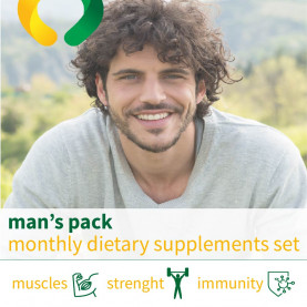 Man's pack - monthly dietary supplements set
