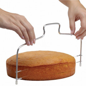 New Double Line Adjustable Stainless Steel Metal Cake Cut Tools Cake Slicer Device Decorating Mold Bakeware Kitchen Cooking Tool