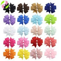 Grosgrains Ribbon Bow with Hair Clip Women Hairpin Cheap Headwear for Kids 40 Colors Available 1801ZYAA1715