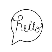 Nordic Style Iron Hello letters wall sticker for kid Room Hanging Decorations Hallway Sign Welcome Sign Wall Art Wall Hanging