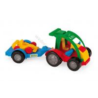 WADER Auto z przyczepą i autkiem Kid Cars