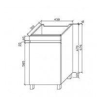 Gabinete de baño (C-M450-FP)