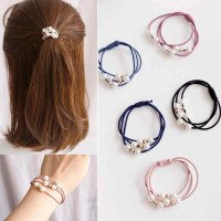 Filles Sweet Pearl Elastic Hair Bands Princess Ponytail Holder Gum For Hair Scrunchies Headband Rubber Band Kids Hair Accessoires