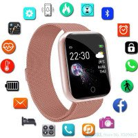 Invidioso Acciaio Smart Watch Donne Uomini Android IOS Fitness Tracker