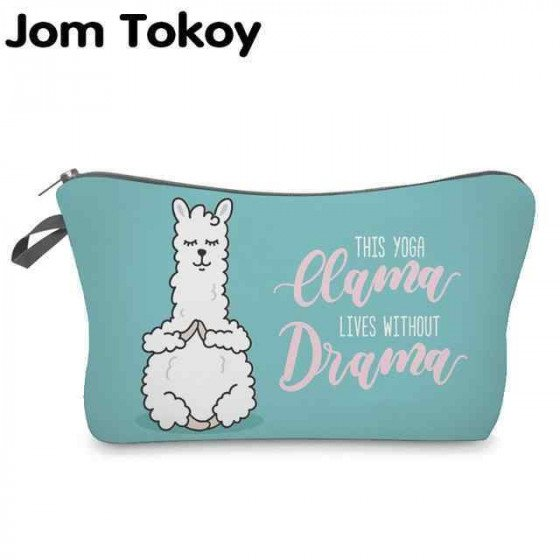 Jom Tokoy Cosmetic Organizer Bag Make Up Printing Llama Cosmetic Bag Fashion Women Brand Makeup Bag Hzb921